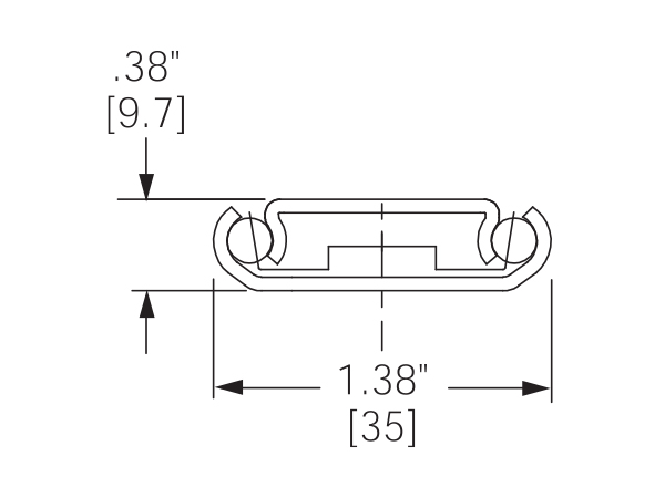 1029 Drawer Slide Cross Section