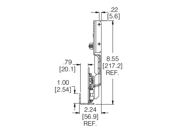 1321: Pro Pocket Flipper Door cross section