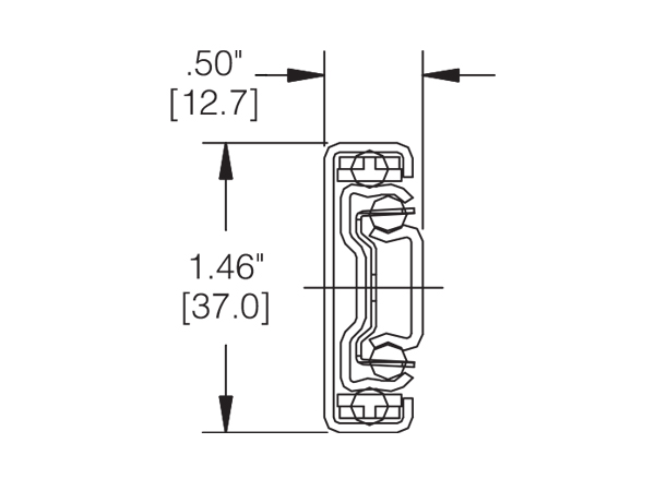 3732 drawer slide cross section