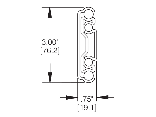 9301 Heavy Duty Drawer Slide Cross Section