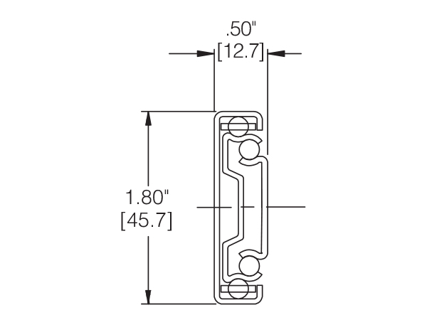 CH3832E: Weather Resistant Drawer Slide Cross Section