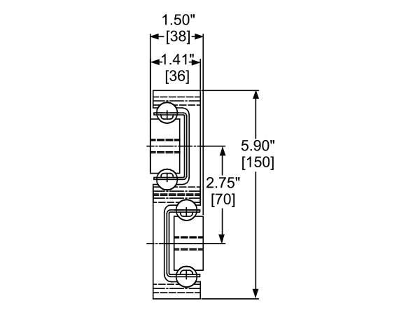 AL4140: Super Heavy-Duty Slide Cross Section