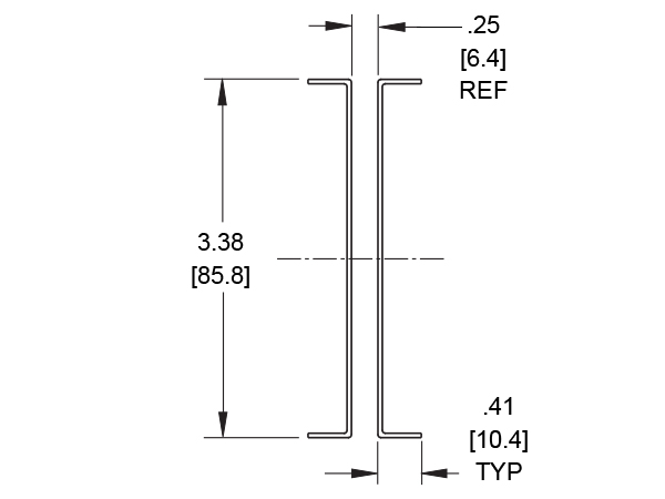 CC11: Cable carrier cross section