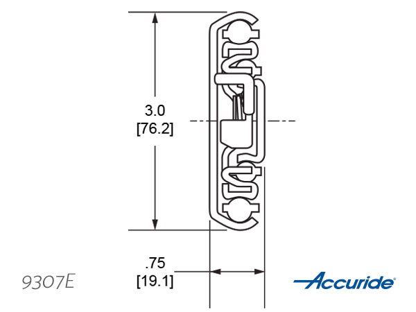 Accuride 9307E Cross Section - Download Tech Sheet/ CAD