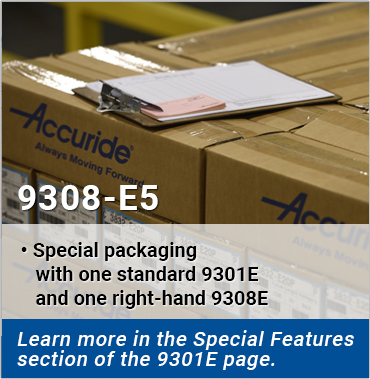 9308E5 - Special packaging with one standard 9301E and one right-hand 9308E