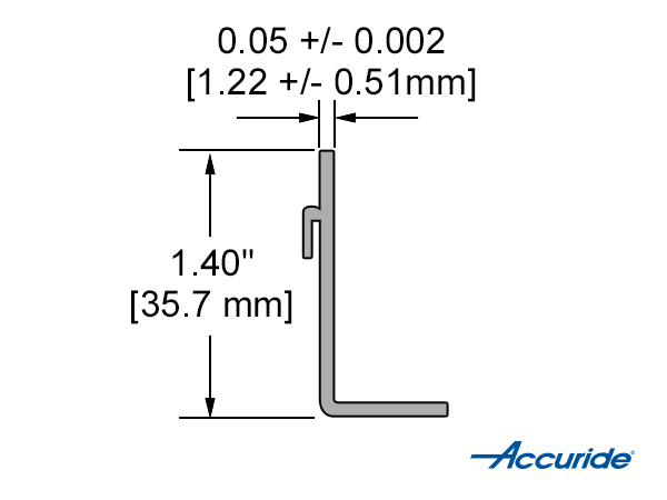 Clip-On Bracket Cross Section