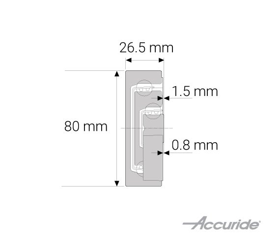 Heavy-Duty Two-Way Travel Corrosion Resistant Aluminum Slide