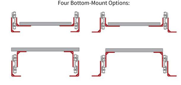 bottom mount brackets