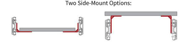 Side mount brackets