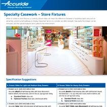 Specialty Casework: Store Fixtures